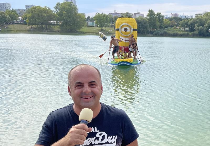 Na vlnach fantazie. Sutaz zabavnych plavidiel na ludsky pohon na strkoveckom jazere. Bratislava 22.august 2021